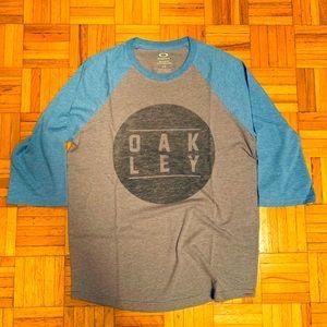 ⭐️HOST PICK⭐️Oakley 3/4 sleeve tshirt heather grey